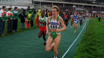 MOMENT 7 - Anne Keenan Buckley medals with Ireland at World Cross Country Championships in 2002