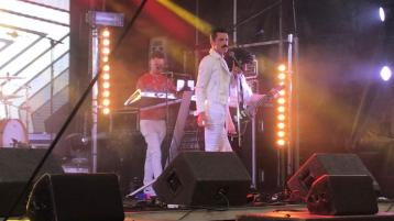 WATCH: Epic Freddie Mercury Queen tribute band rocks the Old Fort Festival