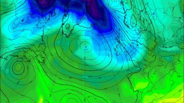 Met Éireann  weather charts and forecast reveal a spring freeze #SNEACHTA
