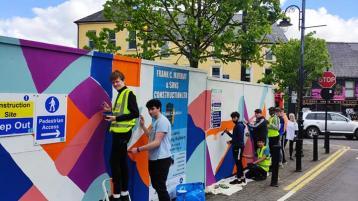 PHOTOS: Portlaoise CBS students transform 'eyesore' construction site