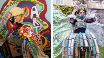 PHOTOS:  Designs on Junk Kouture wins for Mountmellick school