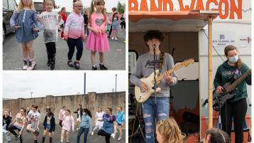 PHOTOS:  Live music returns at Laois primary school