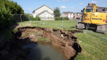 'It was like a tsunami': Massive sinkhole opens up in Limerick housing estate