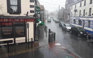 Watch: It's pelting down in Portlaoise
