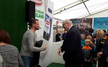 Watch: Kilkenny hurling legend Jackie Tyrrell meets and greets fans at #Ploughing17