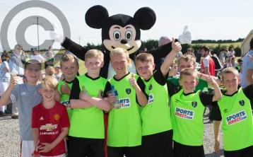 Festival of Football  - Clover Utd in Rathdowney  celebrate as part of FAI soccer project