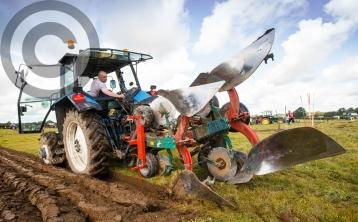 Laois ploughers fly the blue and white with pride in the Faithful County at #ploughing17
