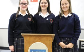 Three Laois secondary school teams have excelled in a midlands Gael Linn debate