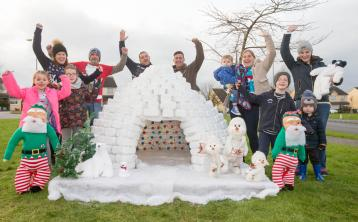 Residents of this Laois housing estate built an igloo out of some very unusual materials