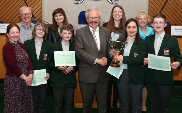 Laois debate students from Portlaoise and Heywood battle it out in final
