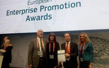 European Commission runners up award for Laois Local Enterprise Office