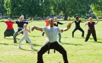 Free lunchtime Tai Chi and Metafit classes starting in a Laois park