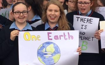Laois students demand climate action  at Mountrath school