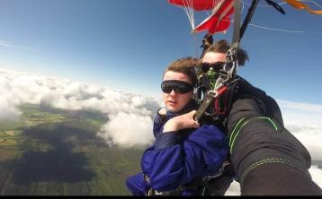 Laois teenager skydives for youth suicide prevention