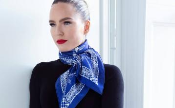 Designer Laois scarf launched by luxury hotel and top Irish designer