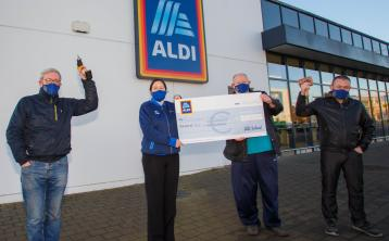 Aldi in Laois backs local Portarlington Men's Shed and Motor Neurone services in Laois with grants