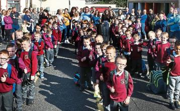 Boys from First Class St Patrick's BNS a year ago in their old uniforms.