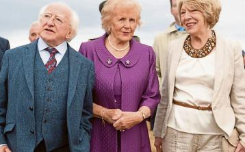 'Queen of the Ploughing' Anna May McHugh with President and Mrs Higgins