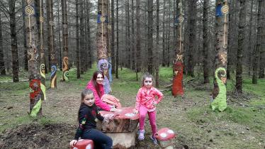 Send your photos of children loving the new fairy woods in Portarlington