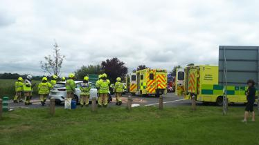 Serious car crash at busy Laois road junction