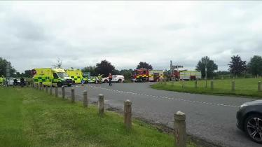 VIDEO:  Dramatic scene of a serious road collision in Laois