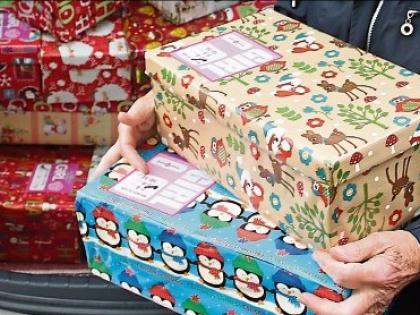 Christmas Shoebox Appeal.Portarlington Credit Union Backs Team Hope Shoebox Appeal