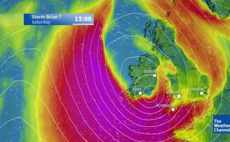 LIVE: Watch Storm Brian as it approaches Louth