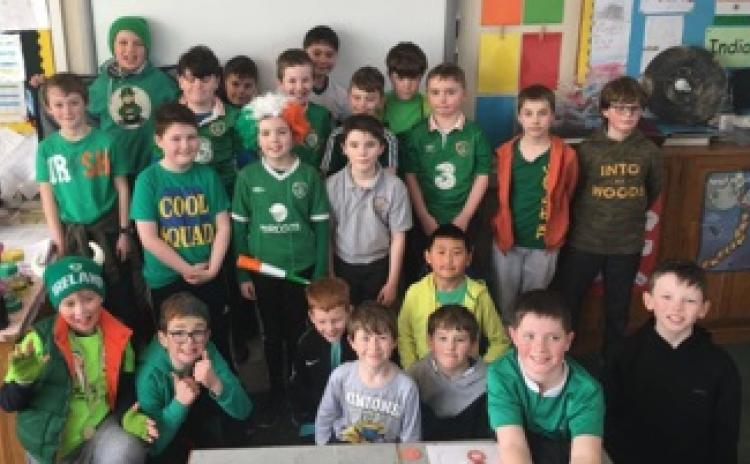 Great images from Seachtaine na Gaeilge at St Patrick's BNS Portarlington