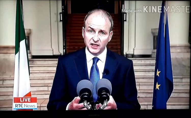 WATCH:  Taoiseach Micheál Martin explains restrictions on Laois, Offaly and Kildare