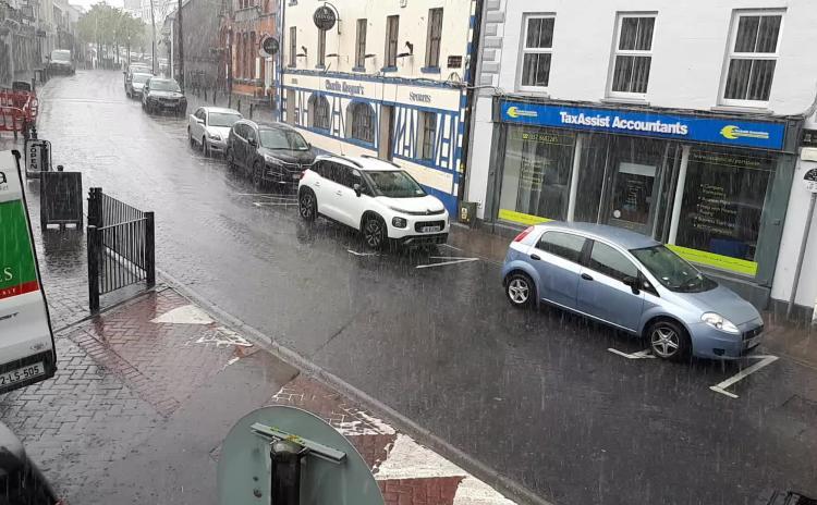WATCH Rain shower batters Laois as miserable weather continues