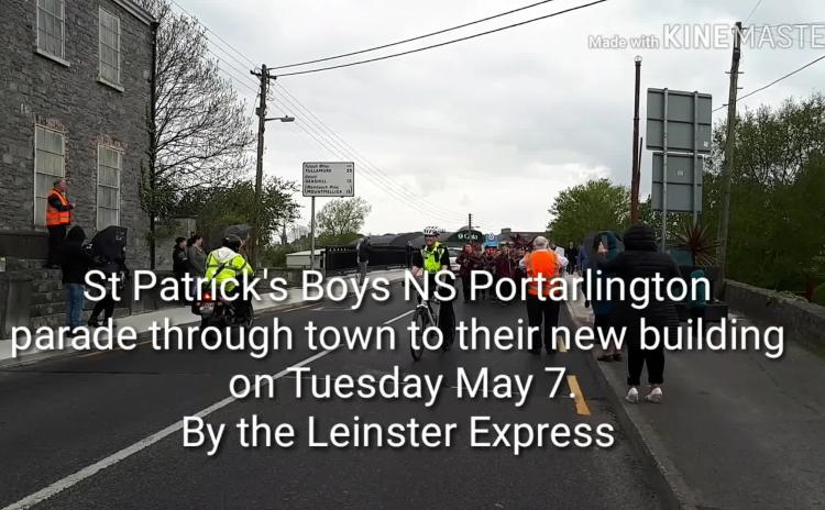 WATCH:  Big day for Portarlington as boys arrive by parade at new school