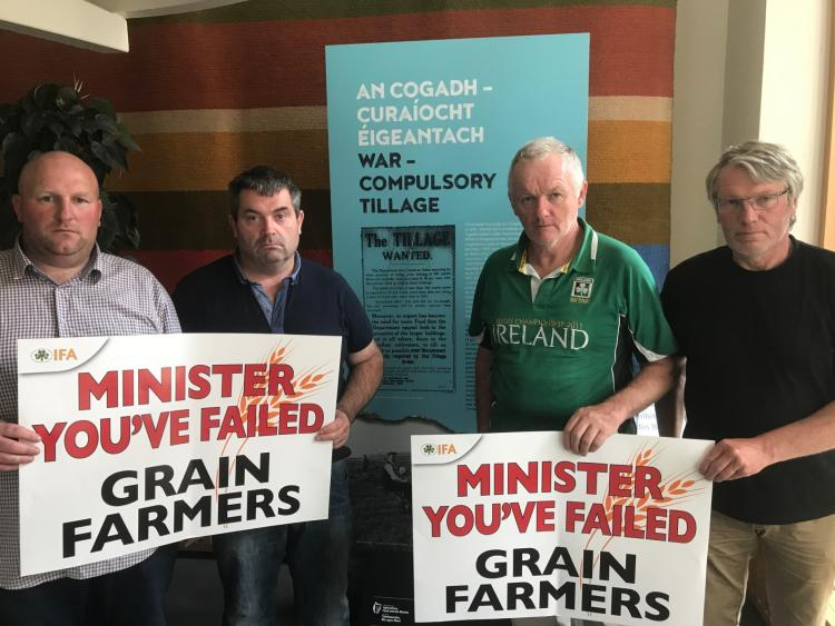 IFA brings combine harvester to tillage protest