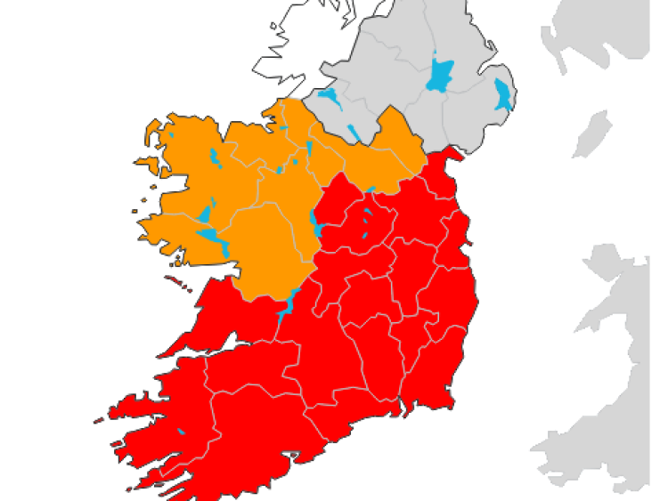 Status Red Weather Alert now valid until 6am tomorrow