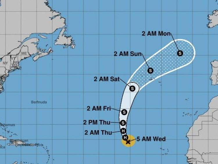 Isaac Likely to Make Closest Pass to V.I. on Friday