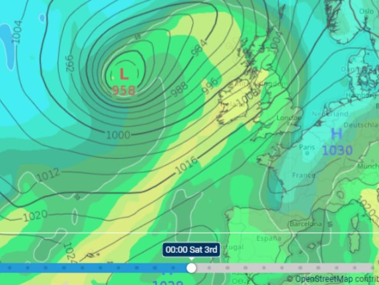 vicious looking weather front driven by hurricane oscar warn