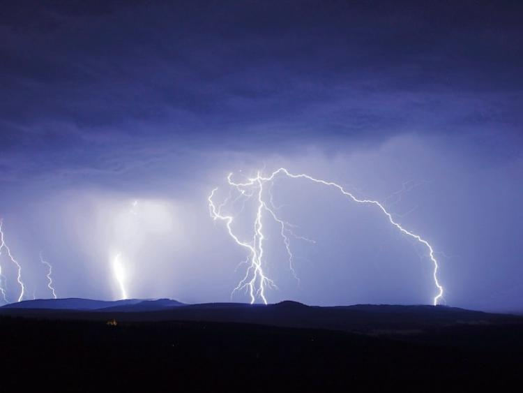 Met Eireann issues thunderstorm weather warning for Laois