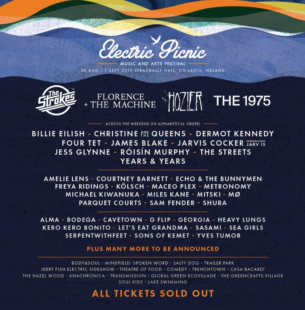 BREAKING: The Electric Picnic 2019 line-up has been