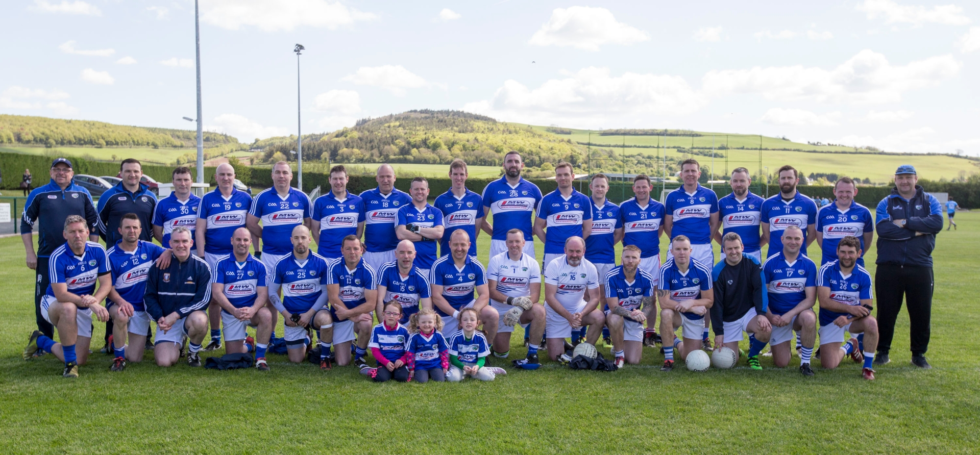 Laois who played Dublin in the All Ireland Masters Football Championship at Stradbally. Picture: Alf Harvey.