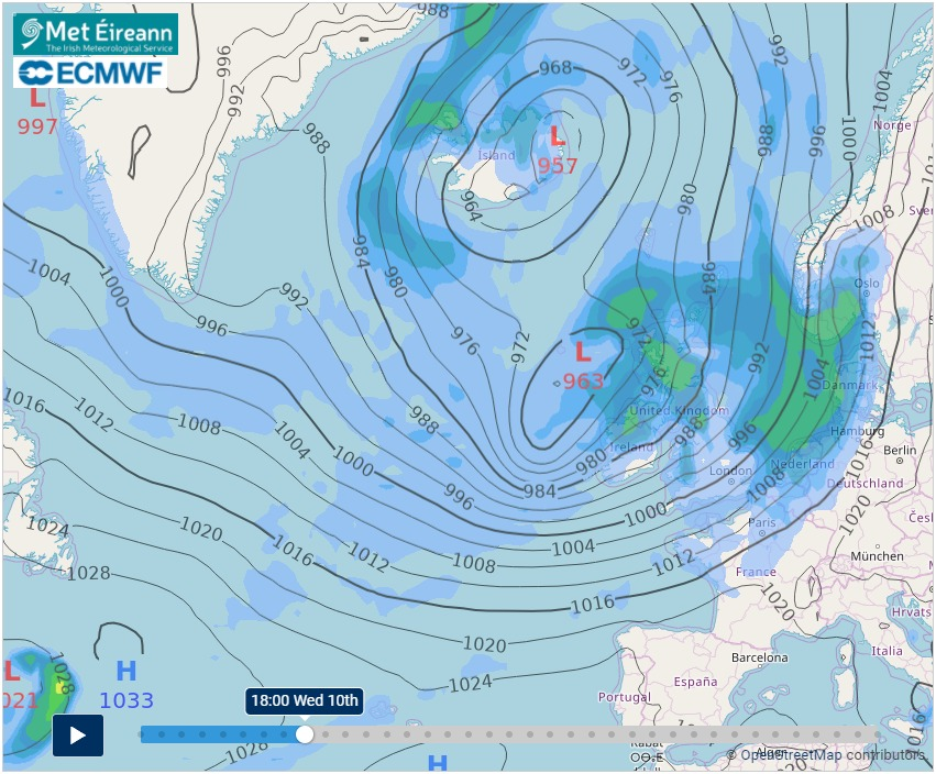 Snow in the forecast? Met Éireann issues stormy weather ...
